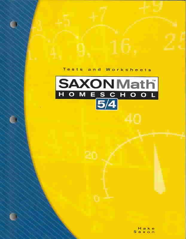 Saxon Math 5/4 By Hake, Stephen